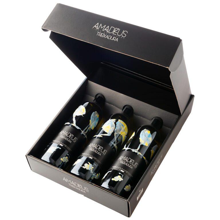 fotografía Costeira Amadeus Treixadura estuche de 3 botellas