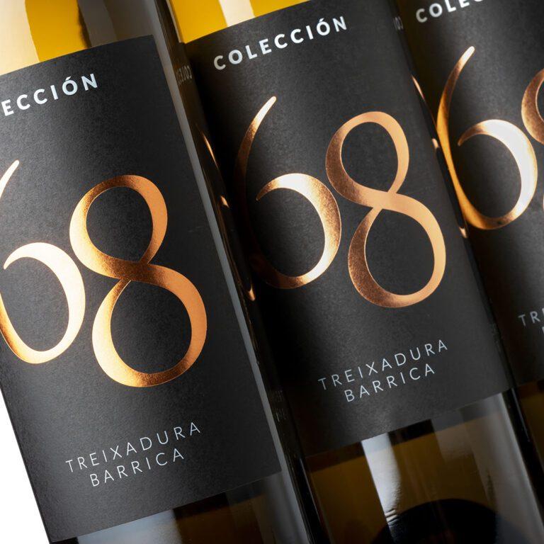 fotografía botellas Costeira Colección 68 Treixadura barrica