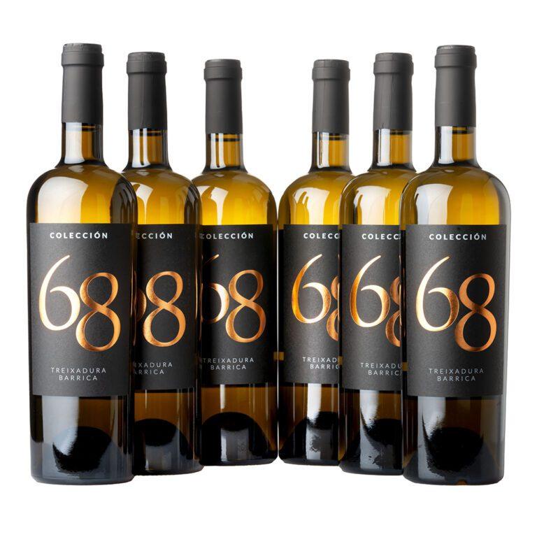 fotografía 6 botellas Costeira Colección 68 Treixadura barrica